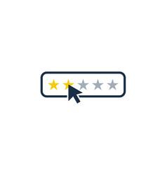 rate testimonial logo icon design vector image