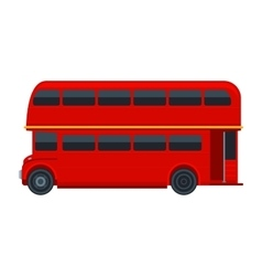 Red London Double Decker Bus isolated on white vector image