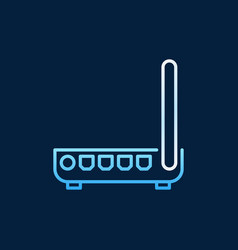 Router or modem colored icon in outline vector