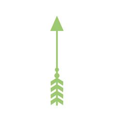 rustic arrow with ornamental design vector image