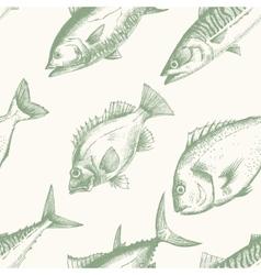 Sea life pattern vector image