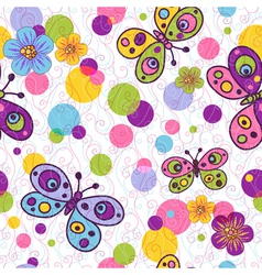 Seamless spring floral pattern vector image vector image