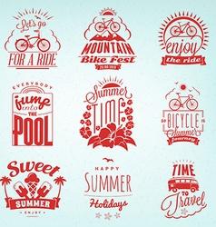 Set of Summer Holidays Badges Hipster Vintage vector