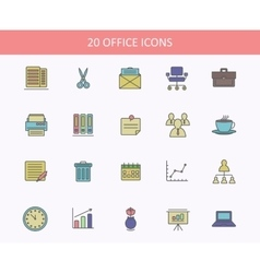 set office icons for web or ui design sheets vector image