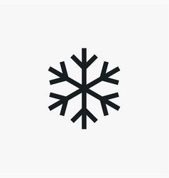 snowflake icon simple winter sign vector image