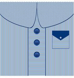 striped man dress background blue shirt dad card vector image