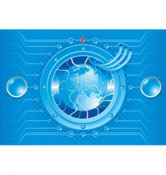 technical world vector image