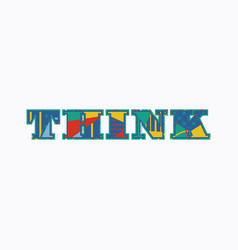 Think concept word art vector