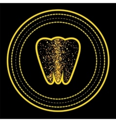 Tooth Logo on Yellow Circle Frame vector image
