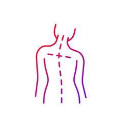 Uneven shoulders gradient linear icon vector