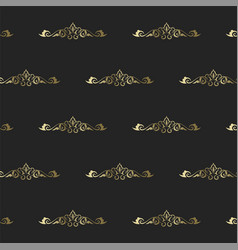 vintage heraldic seamless pattern intertwining vector image