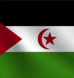 Western Sahara flag vector