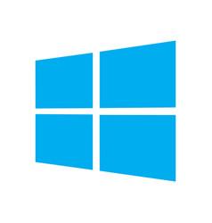 windows emblem vector image