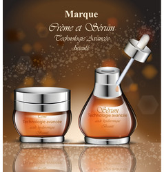 cosmetics realistic product packaging vector image