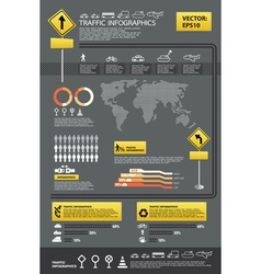 infographic traffic set vector image vector image