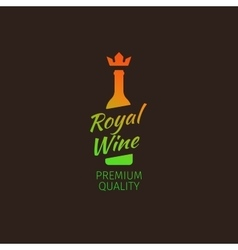 Royal wine premium quality colorful logo vector image vector image