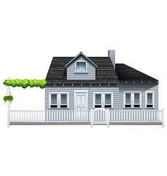 A gated house vector image
