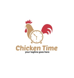 Chicken Time Logo vector image vector image