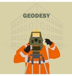 Geodetic engineer vector image