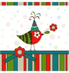 Scrapbook Bird Greeting Card vector image
