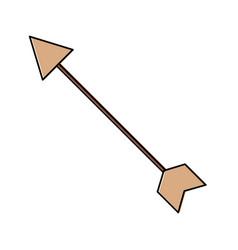 arrow archery icon image vector image