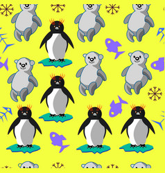 bears and penguins vector image