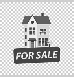 for sale sign with house home for rental in flat vector image