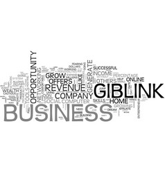 giblink offers online wealth no skills required vector image vector image