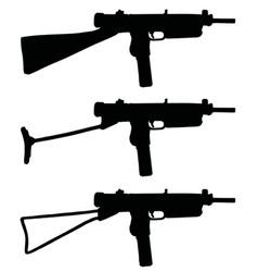 Old short automatic guns vector