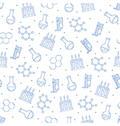 Science pattern blue icons vector image vector image