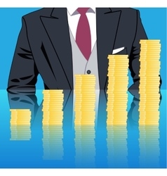 Stacking profits business concept vector image vector image