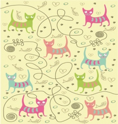 bright cats vector image vector image