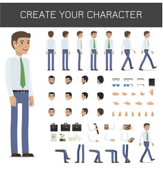 create your character businessman collection vector image vector image
