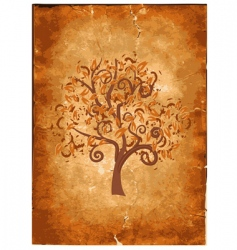 old grunge paper with wood vector image vector image
