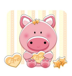 pig love vector image
