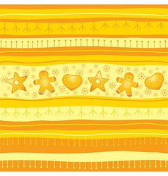 Yellow Christmas seamless background vector image vector image