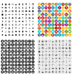 100 beauty salon icons set variant vector image