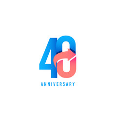 40 year anniversary logo template design vector