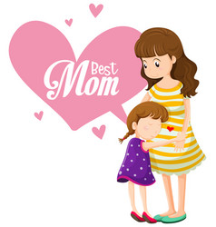a best mom template vector image