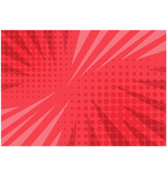 abstract bright red striped retro comic background vector image