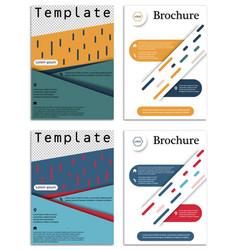 Abstract business template set brochure layout vector