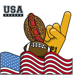 american sports and food vector image