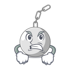Angry wrecking ball isolated on a mascot vector