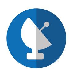 Antena satellite isolated icon vector