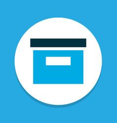 Archive icon colored symbol premium quality vector