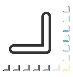 Arrowhead right down icon vector