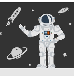 astronauts in space vector image