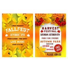 Autumn festival music picnic poster vector
