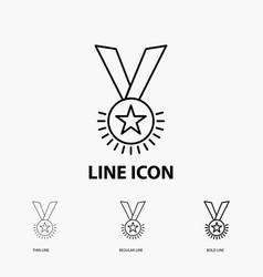 award honor medal rank reputation ribbon icon in vector image