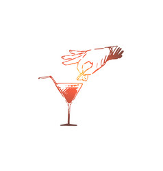 Bar alcohol drink glass cocktail concept vector